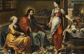 Дева, Марта, Мария, Исус, Христос, Евангелие