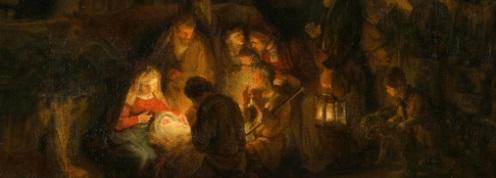 Раждане на Исус, Коледа, 25 декември, Рембранд, ясла, Козирог