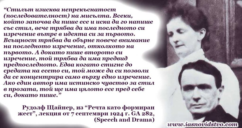 Рудолф Щайнер GA-282 Реч и драма